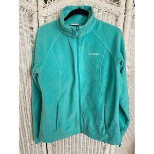 Womens Columbia Fleece Light Teal Zip Up Jacket